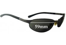 Ray Ban RB3142 Replacement Sunglass Lenses - 59mm wide