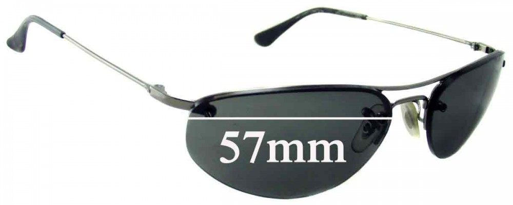 Ray Ban RB3155 Replacement Sunglass Lenses - 57mm Wide