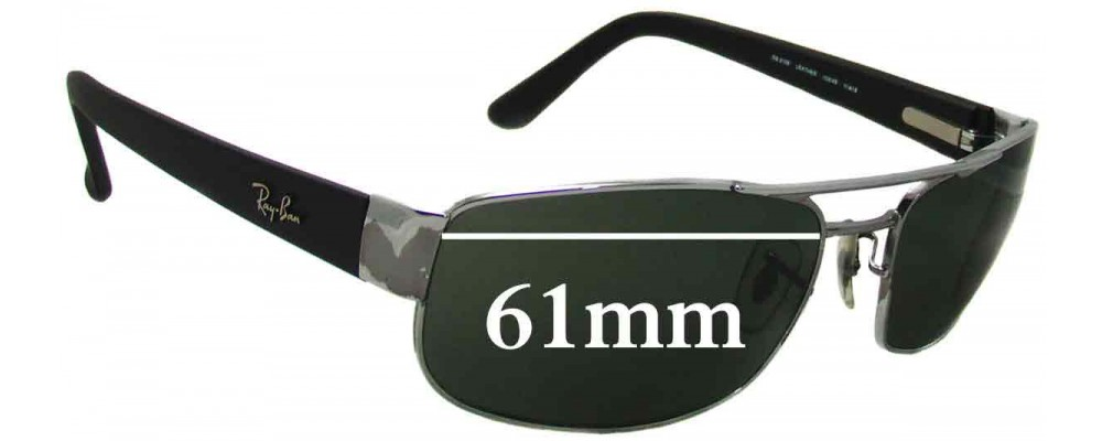 Ray Ban RB3188 Replacement Sunglass Lenses - 61mm Wide
