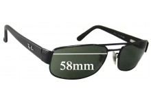 Ray Ban RB3188 Replacement Sunglass Lenses - 58mm Wide