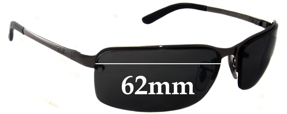 e21a262540 Ray Ban RB3217 Replacement Sunglass Lenses - 62mm Wide