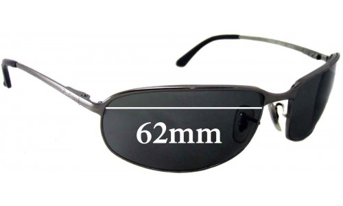 Ray Ban RB3220 Replacement Sunglass Lenses - 62mm wide lenses