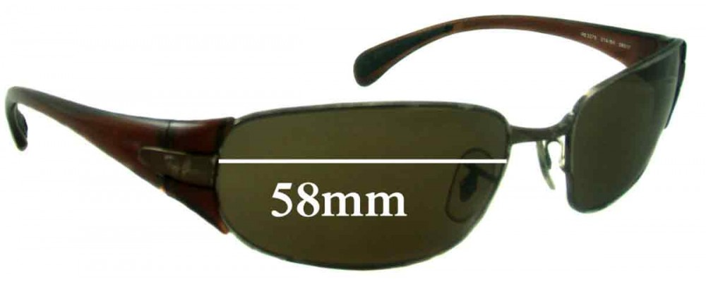 Ray Ban RB3275 Replacement Sunglass Lenses - 58mm wide