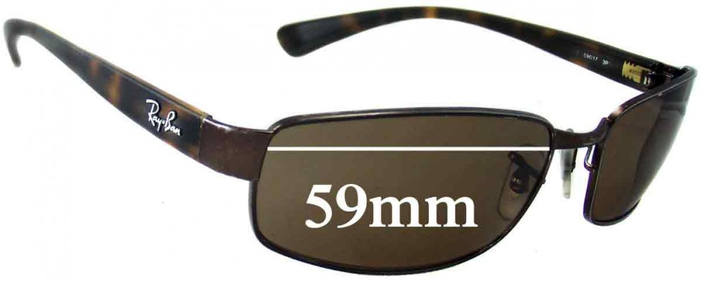 abb6ea5ef6 Ray Ban RB3364 Replacement Lenses - 59mm wide