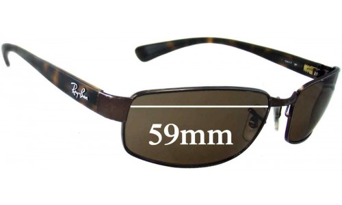 Ray Ban RB3364 Replacement Sunglass Lenses - 59mm wide