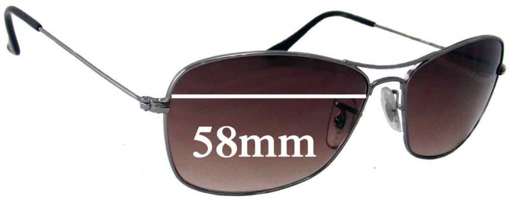 Ray Ban RB3388 Replacement Sunglass Lenses - 58mm wide