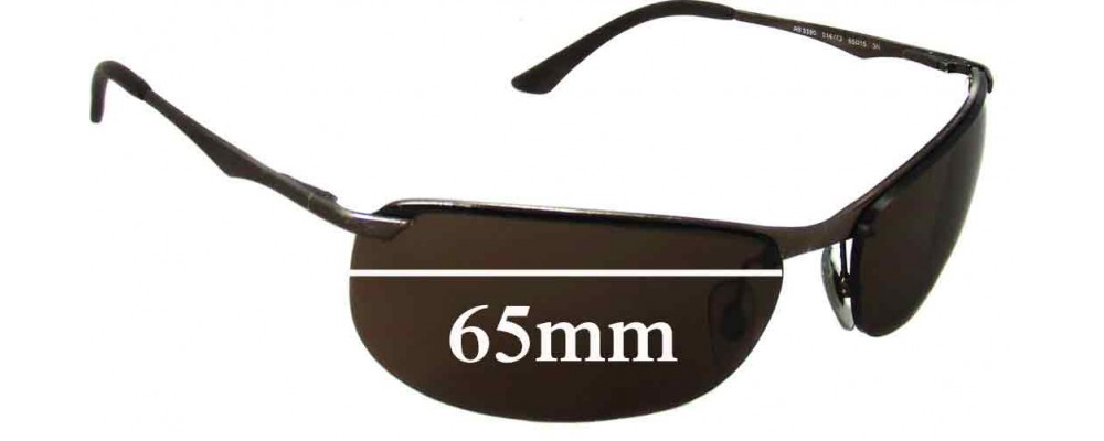 Ray Ban RB3390 Replacement Sunglass Lenses - 65mm across *These lenses have a smaller hole on the nose area*