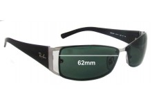 Ray Ban RB3394 Replacement Sunglass Lenses - 62mm wide