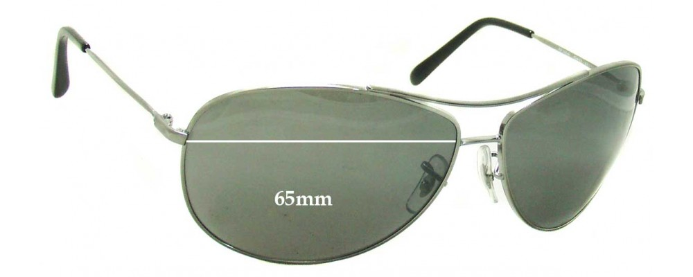 Ray Ban RB3454E Replacement Sunglass Lenses - 65mm Wide