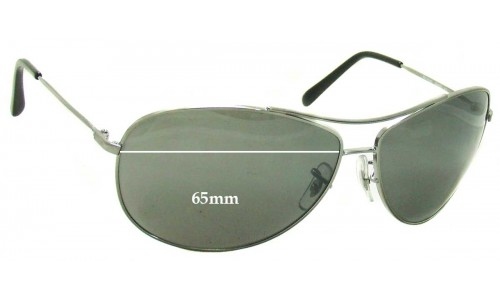 Sunglass Fix Replacement Lenses for Ray Ban RB3454E - 65mm Wide