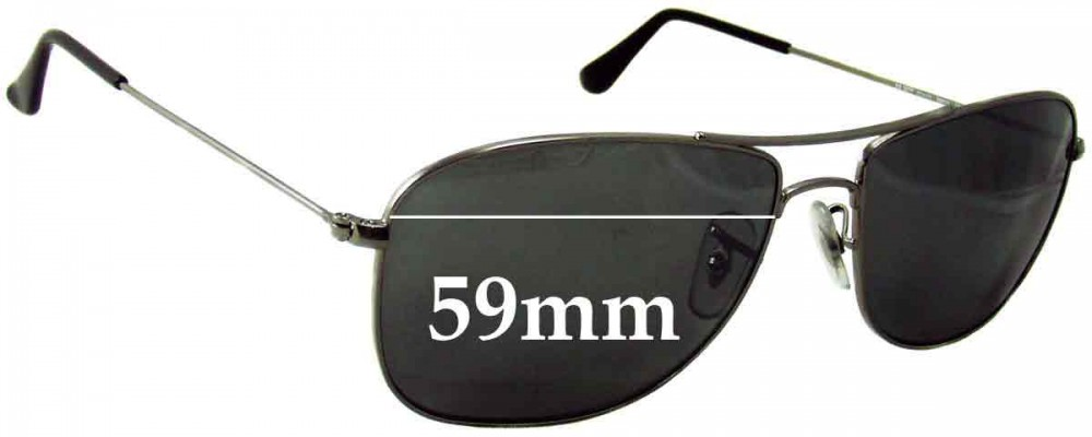 rb3477  Ban 3477 Replacement Sunglass Lenses RB3477 - 59mm wide