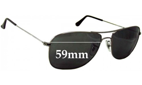 Ray Ban 3477 Replacement Sunglass Lenses RB3477 - 59mm wide