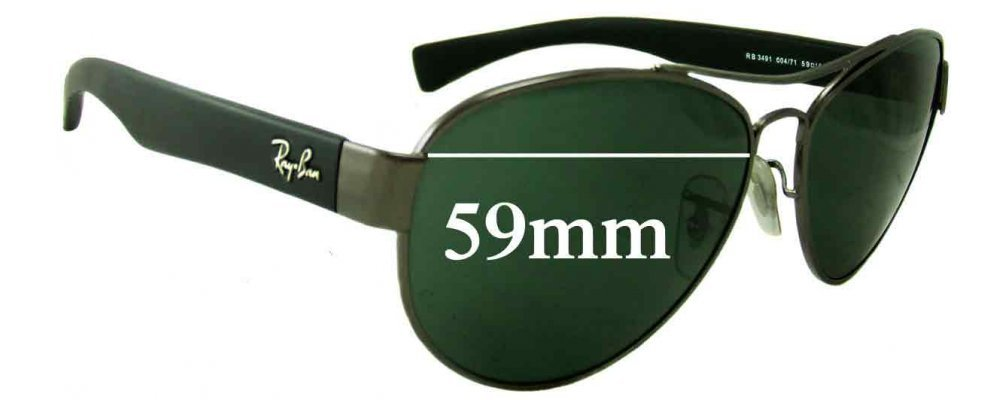 Replacement Rb3491 For Fix Lenses Ray Sunglass Wide 59mm Ban zSVqGUMp