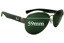 Ray Ban RB3491 Replacement Sunglass Lenses - 59mm wide