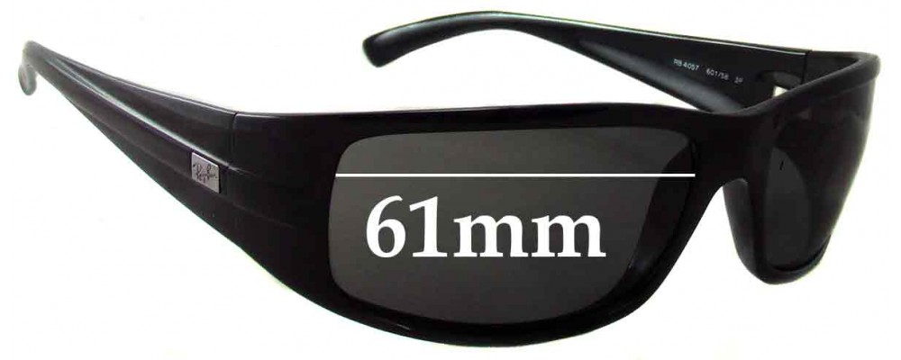 07044355d7 Ray Ban RB4057 Replacement Lenses - 61mm across