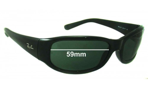 Ray Ban RB4137 Replacement Sunglass Lenses - 59 mm wide