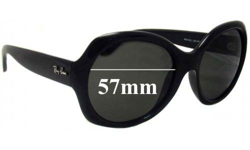 Ray Ban RB4191 Replacement Sunglass Lenses - 57mm wide lenses