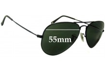 Ray Ban RB6049 Aviator Replacement Sunglass Lenses - 55mm wide