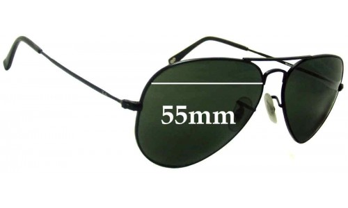 Ray Ban RB6049 Aviator New Sunglass Lenses - 55mm wide