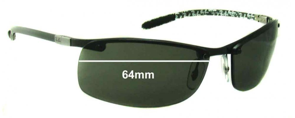 6dad33a6da Ray Ban Tech RB8305 Replacement Lenses - 64mm Wide - Professional Install  Recommended