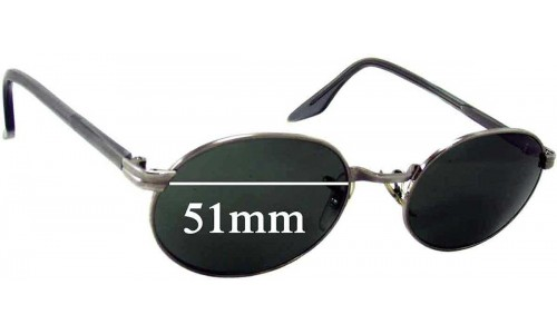 Sunglass Fix Replacement Lenses for Ray Ban W2319 Bausch Lomb - 51mm across