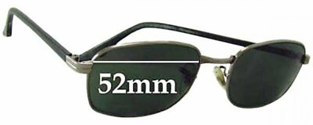 Sunglass Fix Replacement Lenses for Ray Ban W2728 Bausch Lomb - 52mm wide