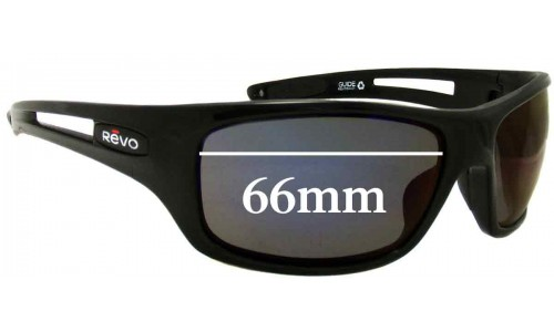 Revo Guide RE4054 Replacement Sunglass Lenses - 66mm wide
