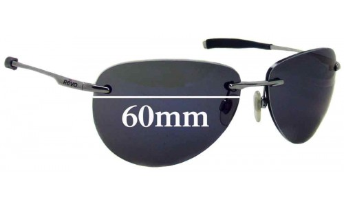 Revo Rise RE 9013 Replacement Sunglass Lenses - 60mm wide