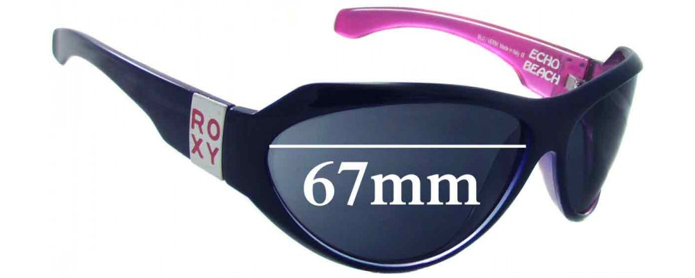 Sunglass Fix New Replacement Lenses for Roxy Echo Beach - 67mm Wide