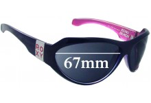 Roxy Echo Beach Replacement Sunglass Lenses - 67mm wide
