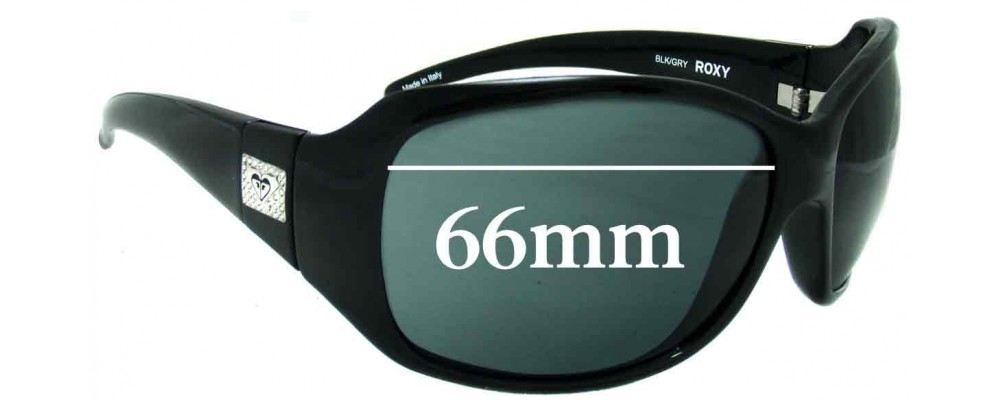 Sunglass Fix New Replacement Lenses for Roxy The Minx - 66mm Wide