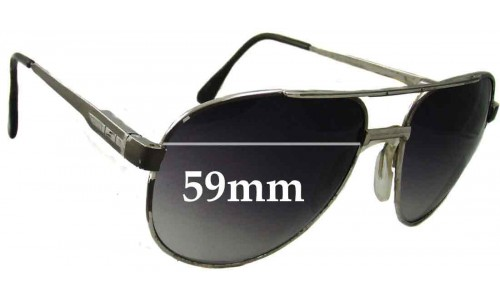 Safilo Aviator Style Replacement Sunglass Lenses - 59mm wide
