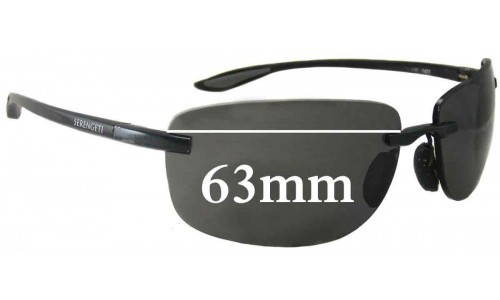 Serengeti Rotolare 7477 Replacement Sunglass Lenses - 63mm Wide