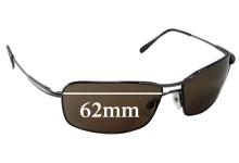 Sunglass Fix Replacement Lenses for Serengeti Dante - 62mm Wide