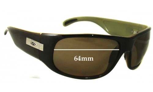 Smith Mogul Replacement Sunglass Lenses 64mm wide