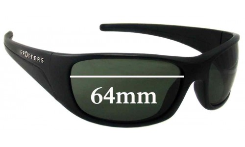 Spotters Alpha Replacement Sunglass Lenses - 64mm wide