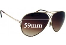 Tom Ford Peter TF142 Replacement Sunglass Lenses - 59mm Wide