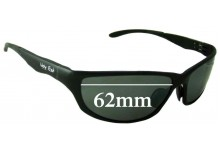 Ugly Fish Model PT24234 Replacement Sunglass Lenses - 62mm Wide