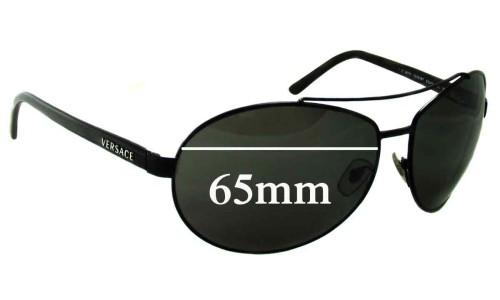Versace MOD 2070 Replacement Sunglass Lenses - 65mm Wide