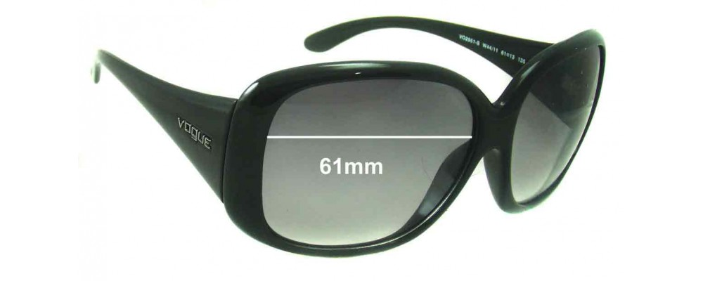 Vogue VO2551-S Replacement Sunglass Lenses - 61mm Wide