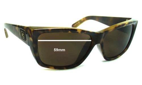 Von Zipper Cookie New Sunglass Lenses - 59mm Wide