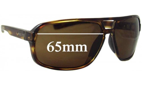 Von Zipper Decco Replacement Sunglass Lenses - 65mm wide