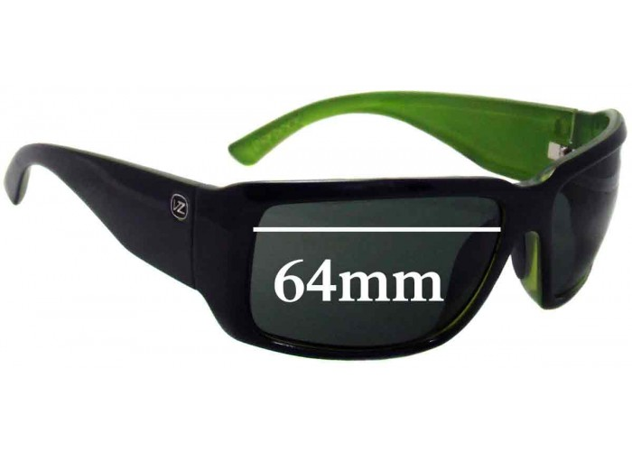 SFX Replacement Sunglass Lenses fits Von Zipper Desmond 62mm Wide