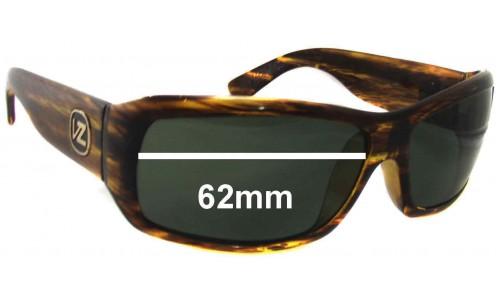 SFX Replacement Sunglass Lenses fits Von Zipper Hitchhiker 62mm Across