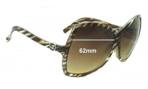 Von Zipper Nessie Replacement Sunglass Lenses - 62mm wide