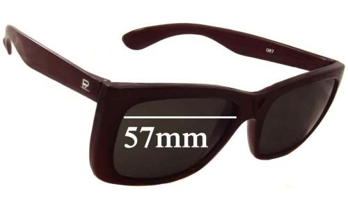 Vuarnet Pouilloux 087 Replacement Sunglass Lenses - 57mm wide
