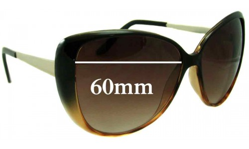 Witchery Linda New Sunglass Lenses - 60mm Wide