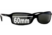 Arnette AN4067 Replacement Sunglass Lenses - 60mm Wide