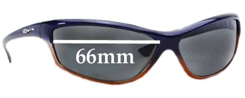 Arnette Asylum AN4058 Replacement Sunglass Lenses - 66mm wide