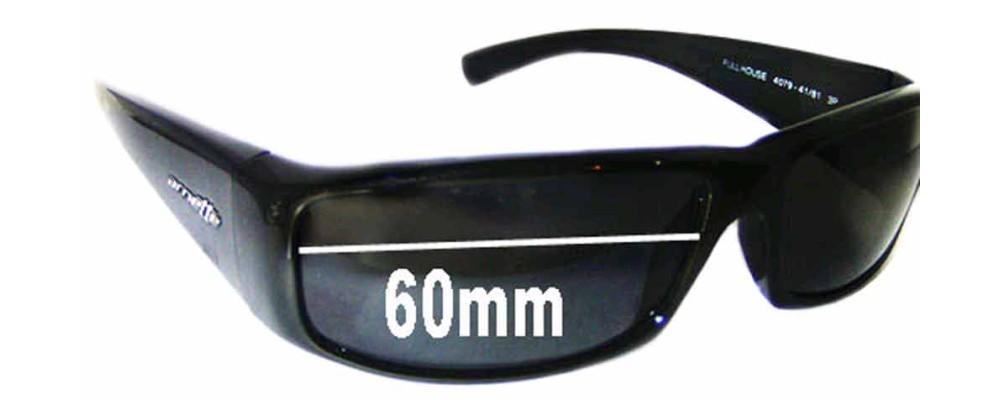 Arnette Full House AN4079 Replacement Sunglass Lenses - 60mm wide